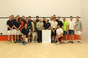 2015 Alumni squash event group shot